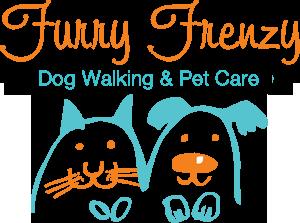 furry frenzy dog walking logo