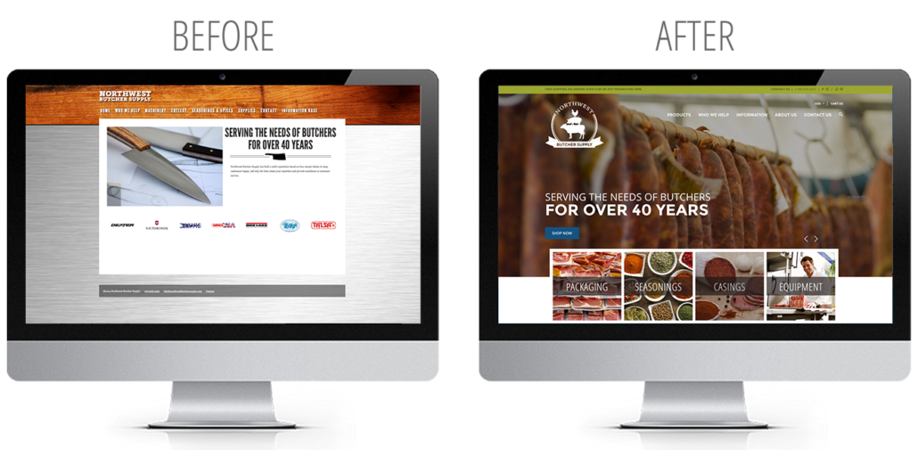 website design before and after examples