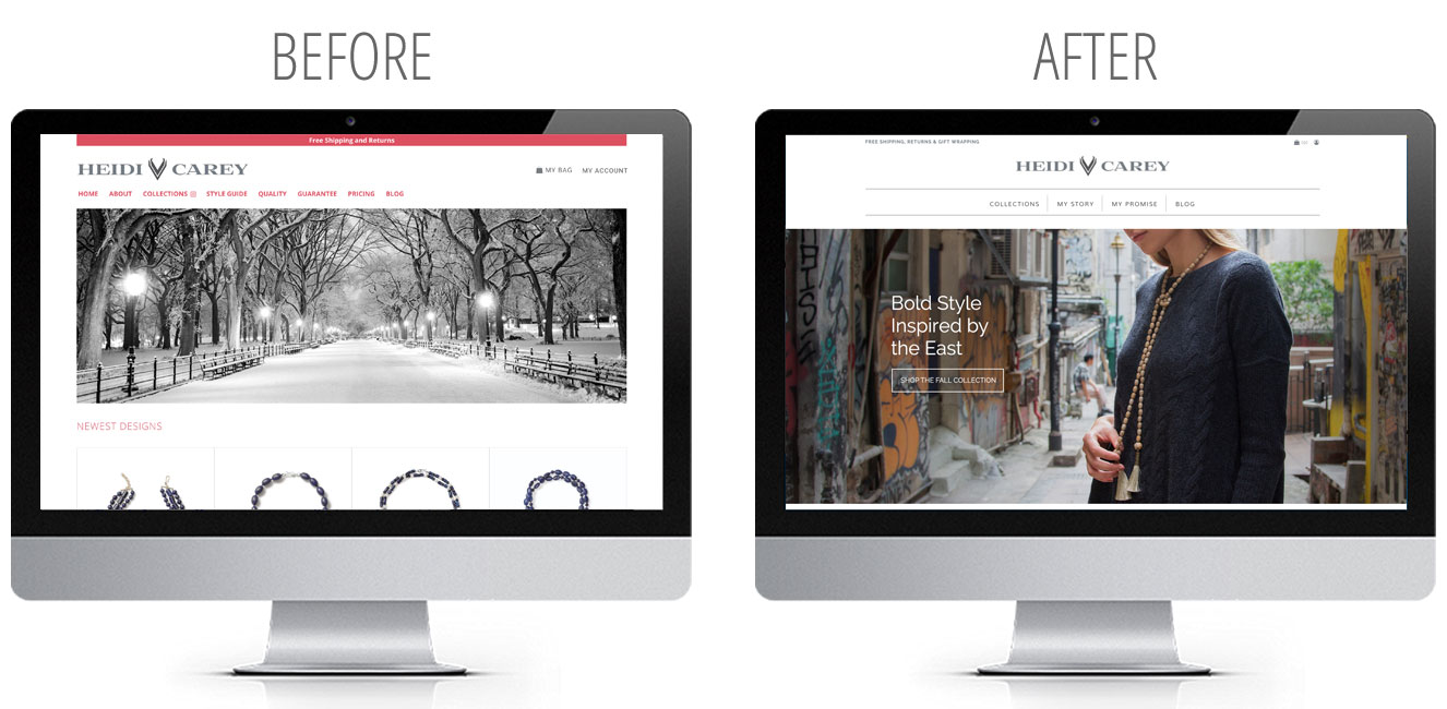 website before and after gallery